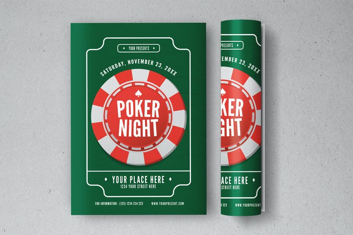 Thumbnail for Poker night Flyer
