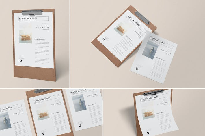 Thumbnail for Realistic Paper Mockups