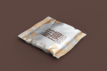 Snack Bag Packaging Mockup