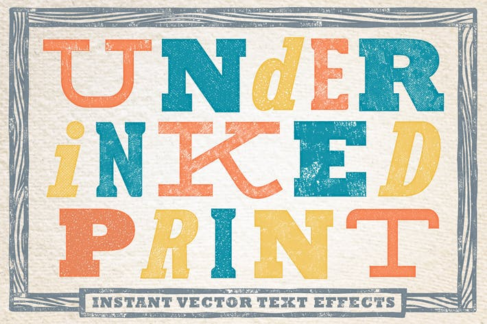 Thumbnail for Under-Inked Print  - Instant Vector Text Effects