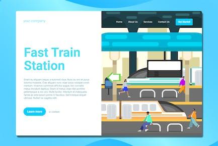 Railway Station - Landing Page