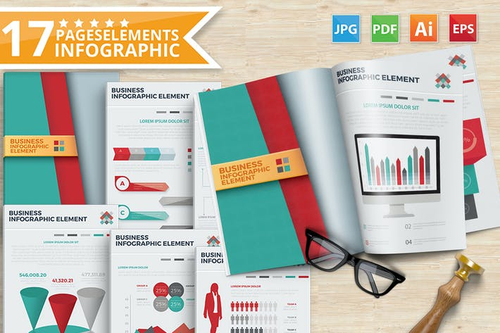 Thumbnail for 17 Elements Of Infographic Design