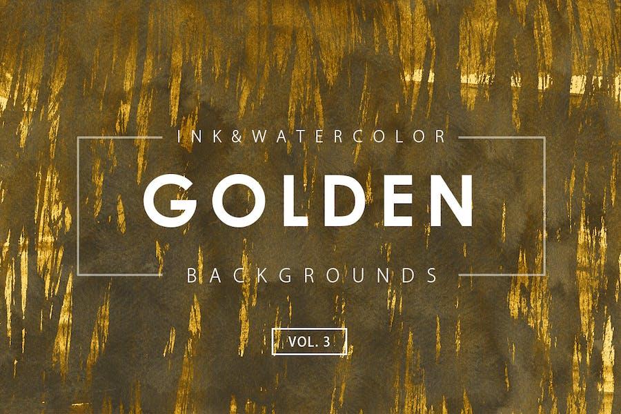 Golden Ink Backgrounds 3