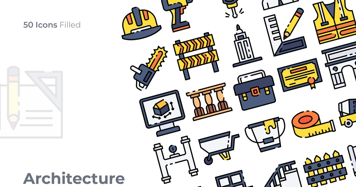 Download Architecture Filled Icon by GoodWare_Std