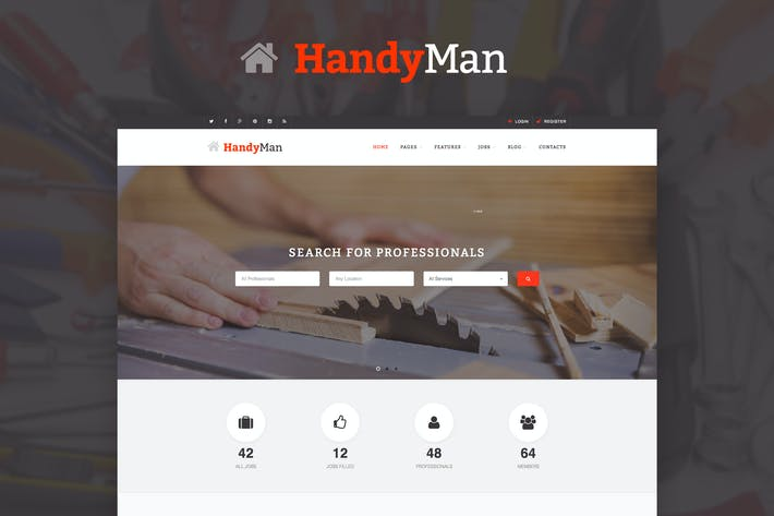 Thumbnail for Handyman - Job Board HTML Template