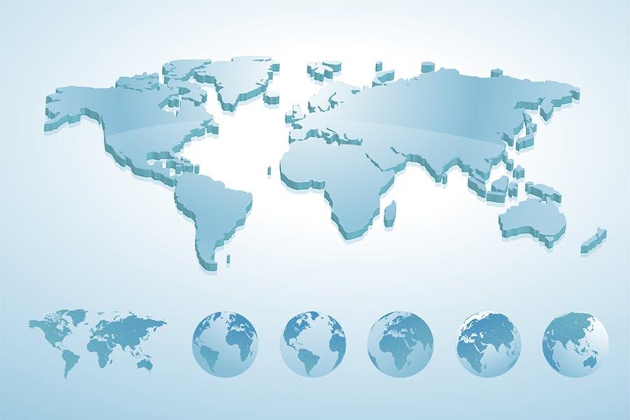 3d world map illustration