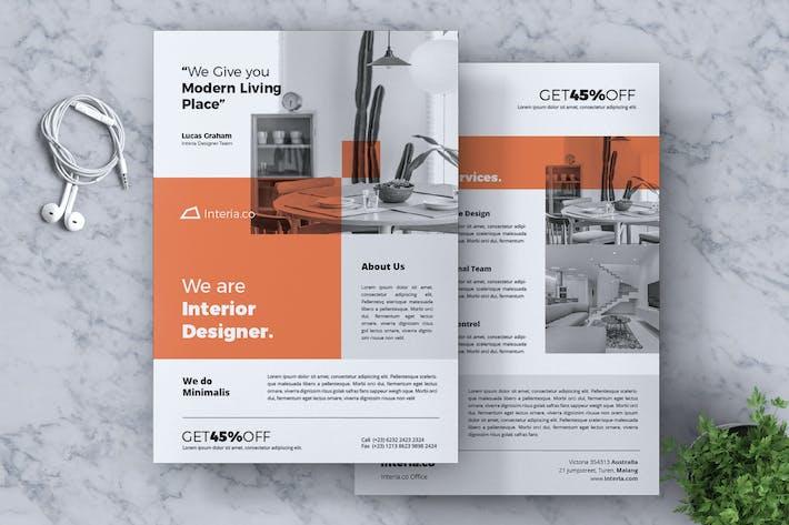 Thumbnail for Interior Design Flyer Vol. 01