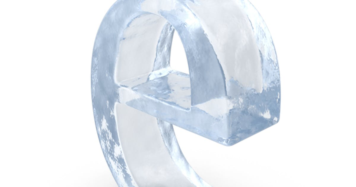 Ice Letter Lowercase E by PixelSquid360 on Envato Elements