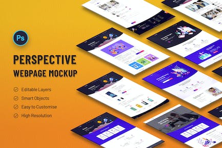 Perspective Web Page Mockup