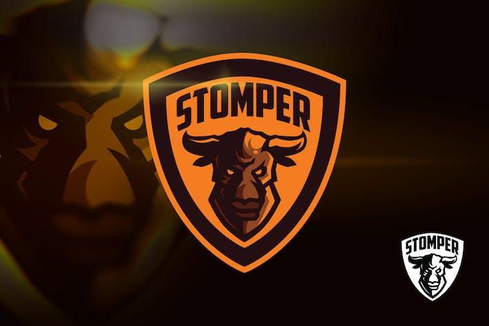 Thumbnail for Angry Bull Mascot Esports Logo