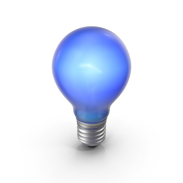 Lightbulb Blue Glossy Turned on