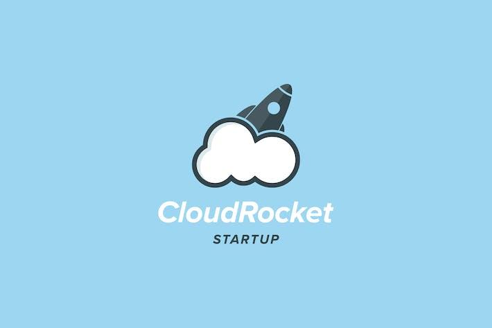 Thumbnail for Cloud Rocket Logo Template