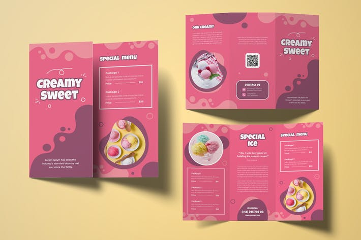 Thumbnail for Ice Cream Trifold Brochure