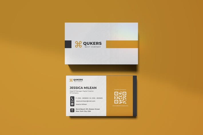 Cover Image For Qukers Business Card