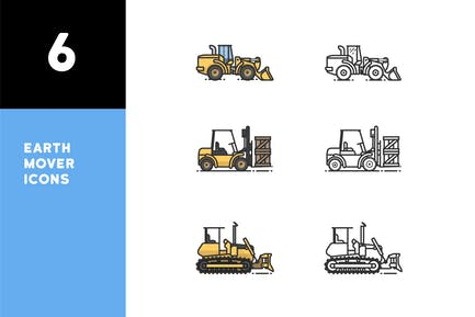Earth Mover Icons