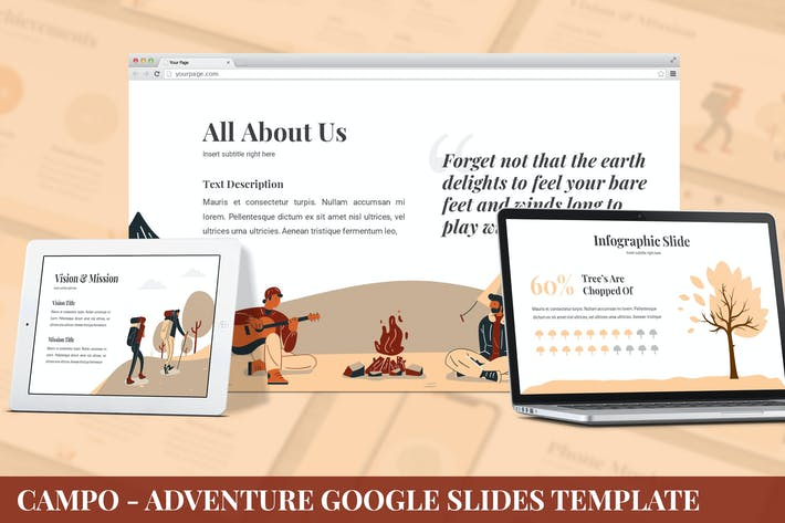 Thumbnail for Campo - Adventure Google Slides Template