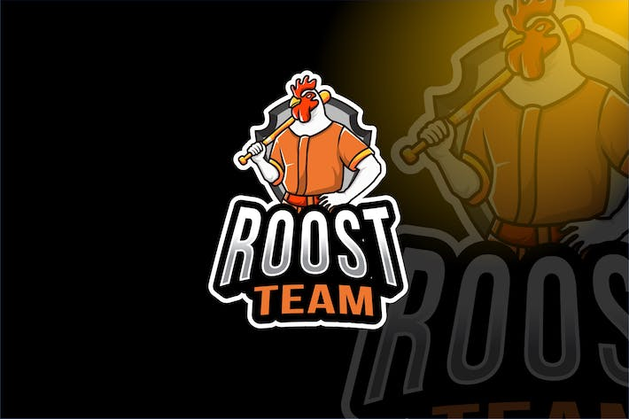 Thumbnail for Rooster Team Sport Logo Template