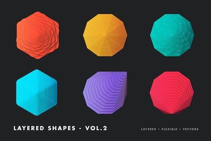 Mehrschichtige Vektor formen - vol.2