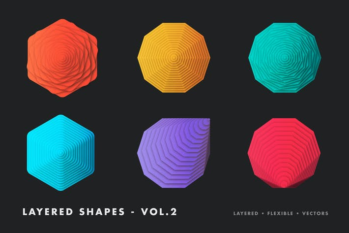 Thumbnail for Layered vector shapes - vol.2