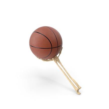 Skeleton Hand Holding a Basketball Ball