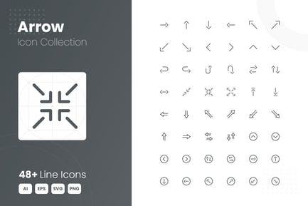 48 Arrow Icon-Sammlung