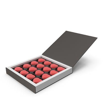 Подарочная коробка с шоколадными конфетами ко Дню Святого Валентина