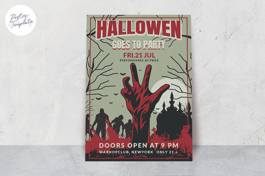 Halloween Theme Poster Template