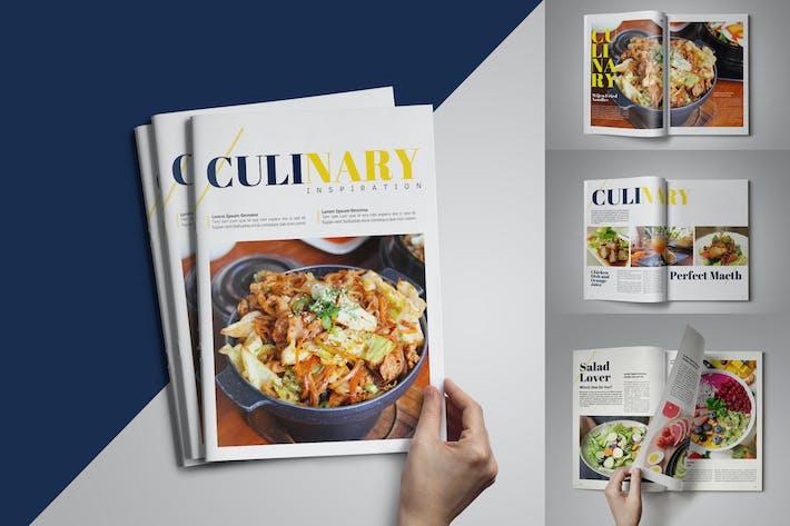 Modèle de magazine culinaire