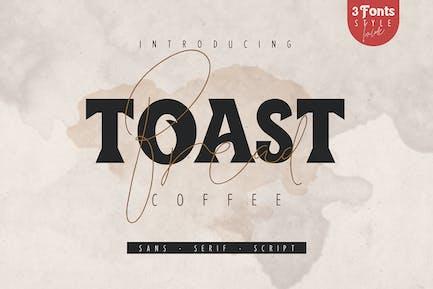 Toast Bread Coffee Tipo de letra