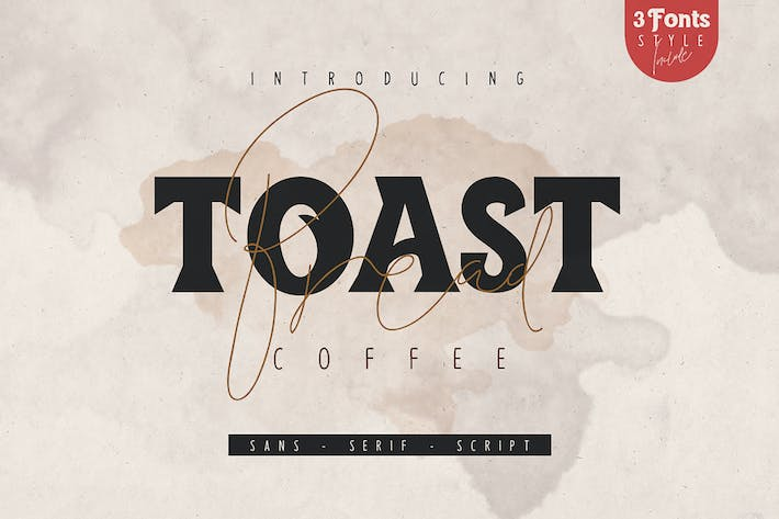 Cover Image For Toast Bread Coffee Tipo de letra