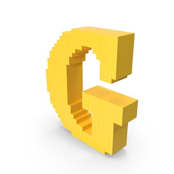 Пиксельная художественная буква G