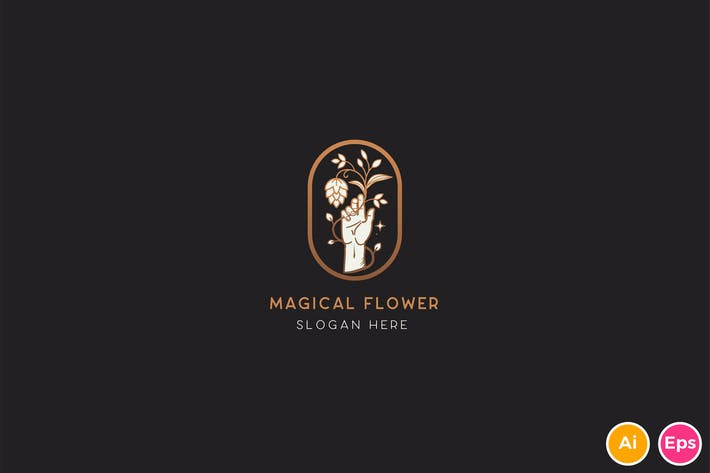 Thumbnail for Magical Flower Logo Template