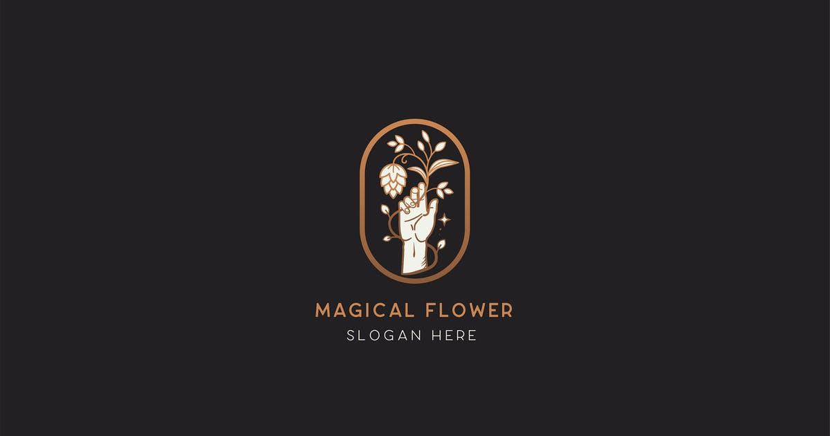 Download Magical Flower Logo Template by NEWFLIX