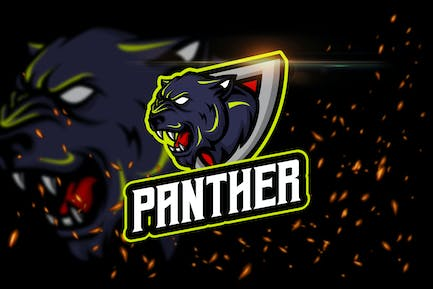 The Panther - Angry Animal eSport Logo Template