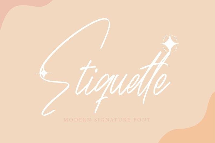 Etiquette - Modern Signature Font