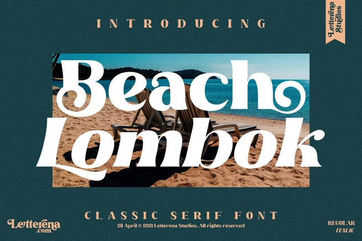Beach Lombok Serif Font LS