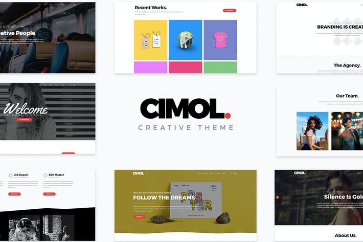 Cover Image For Cimol - Responsive One Page & Multi Page Portfolio