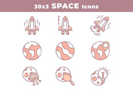 30 Weltraum- und AstronomieIcons