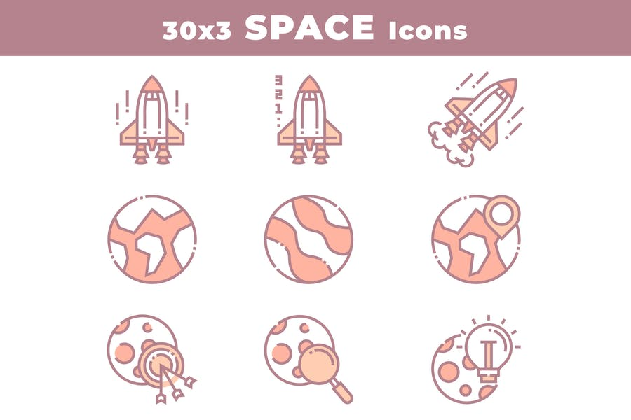30 Space and Astronomy Icons