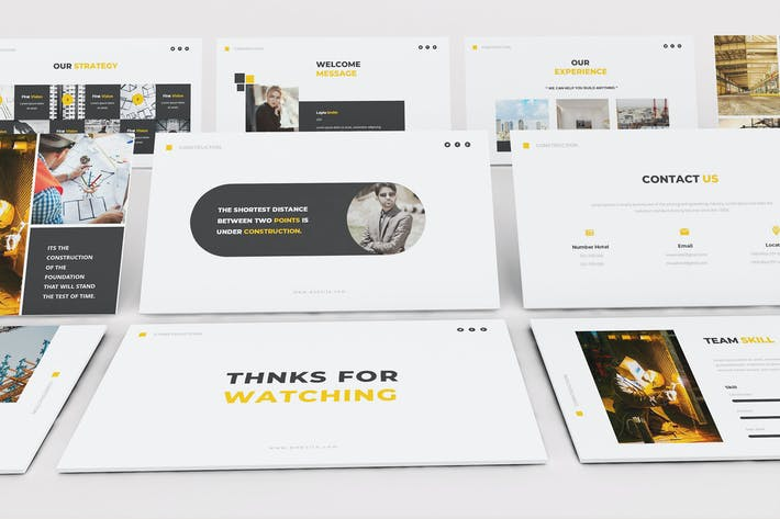Thumbnail for Construction Keynote Template