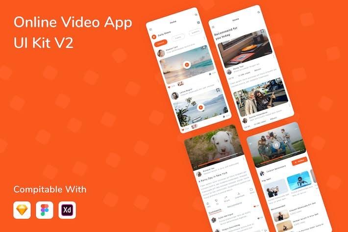 Thumbnail for Online Video App UI Kit V2