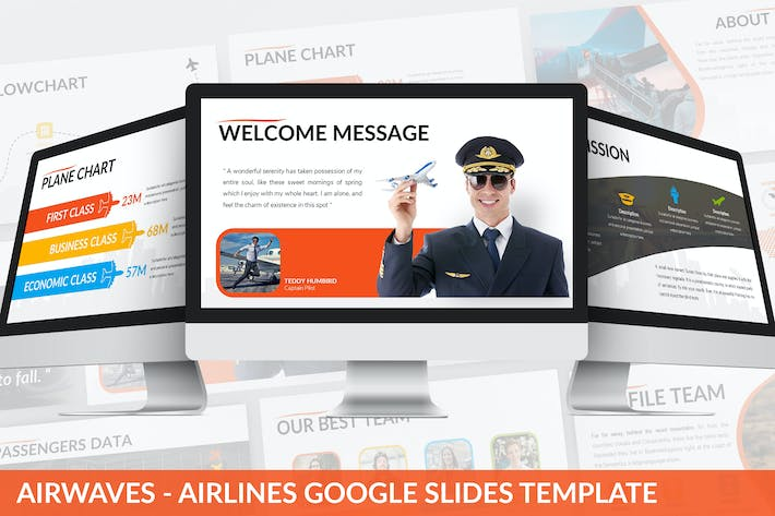 Thumbnail for Airwaves - Airlines Google Slides Template