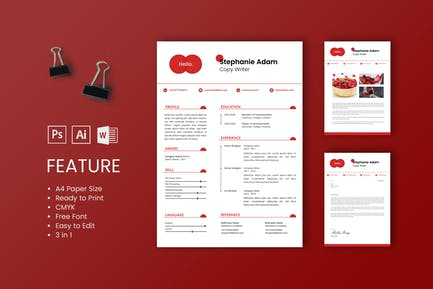 Professional CV And Resume Template Stephanie