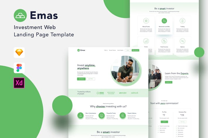 Thumbnail for Emas - Investment Website Landing Page