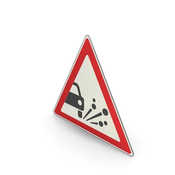 Verkehrszeichen Lose Straßenoberfläche
