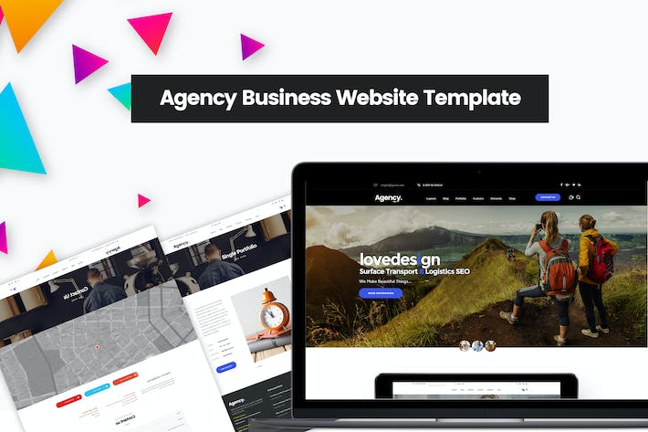 Thumbnail for Agency Business Website Template | Company Design