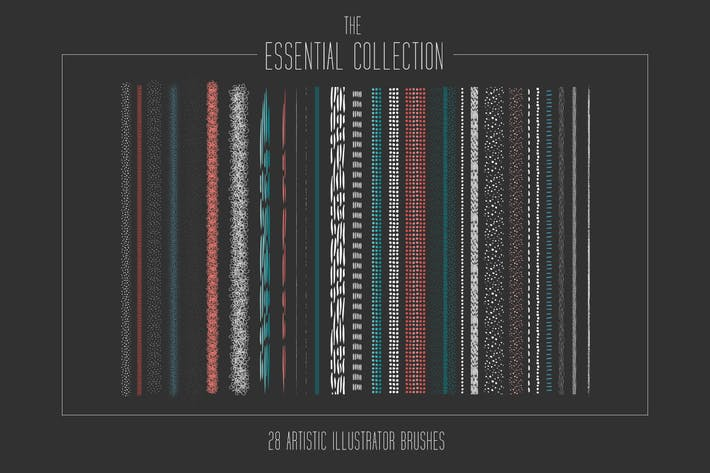 Thumbnail for Essential Artistic Illustrator Brush Collection