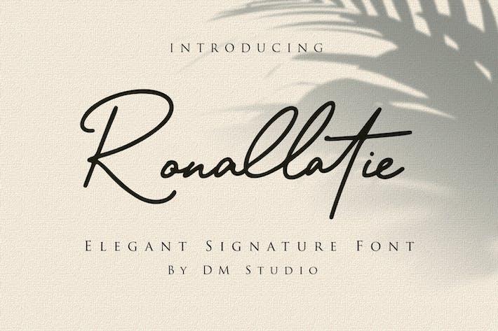 Thumbnail for Ronallatie - Fuente de firma elegante