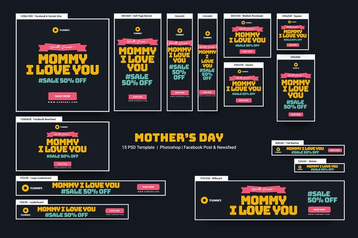 Thumbnail for Happy Mother's Day Banners Ad