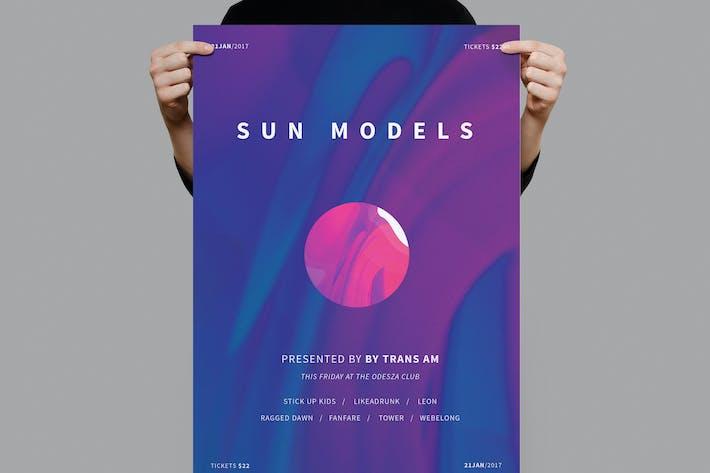 Thumbnail for Sun Models Poster / Flyer